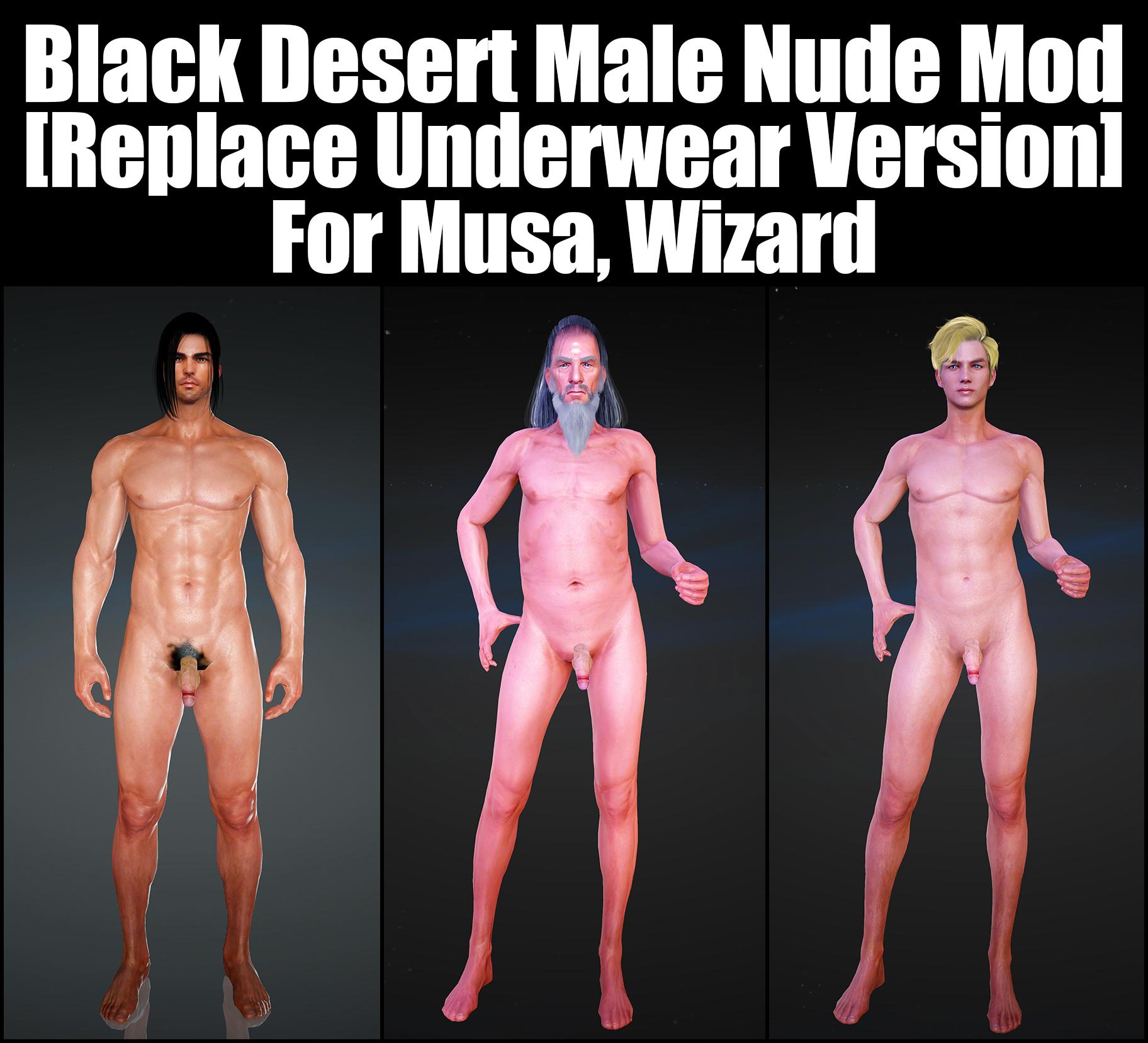 Black Desert Male Nude Mod [Replace Underwear Version] For Musa, Wizard.jpg