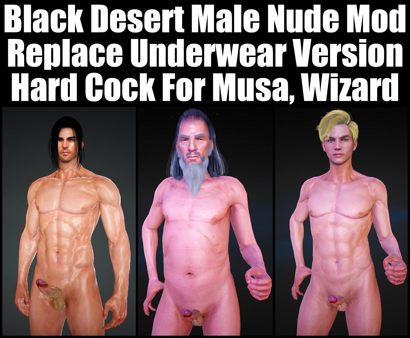Black Desert Male Nude Mod [Replace Underwear Version][Hard Cock] For Musa, Wizard.jpg